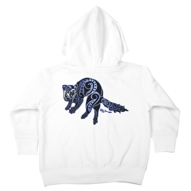 Ferret Trybe: War Dance! Kids Toddler Zip-Up Hoody by Magickal Vision: The Art of Jolie E. Bonnette