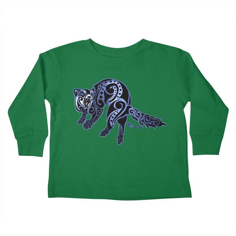Ferret Trybe: War Dance! Kids Toddler Longsleeve T-Shirt by Magickal Vision: The Art of Jolie E. Bonnette