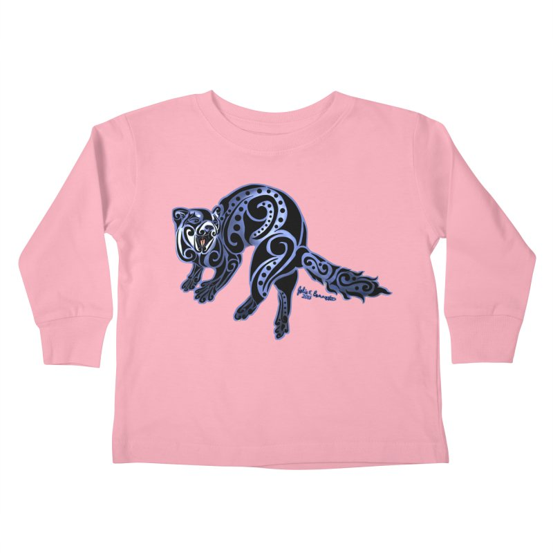 Ferret Trybe: War Dance! Kids Toddler Longsleeve T-Shirt by Magickal Vision: The Art of Jolie E. Bonnette