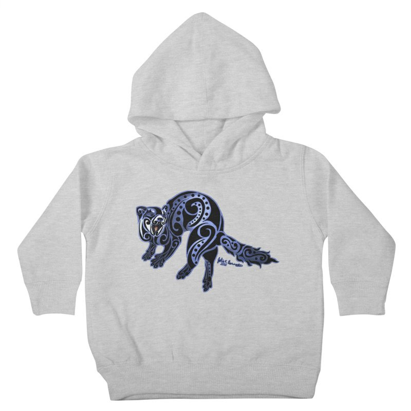 Ferret Trybe: War Dance! Kids Toddler Pullover Hoody by Magickal Vision: The Art of Jolie E. Bonnette