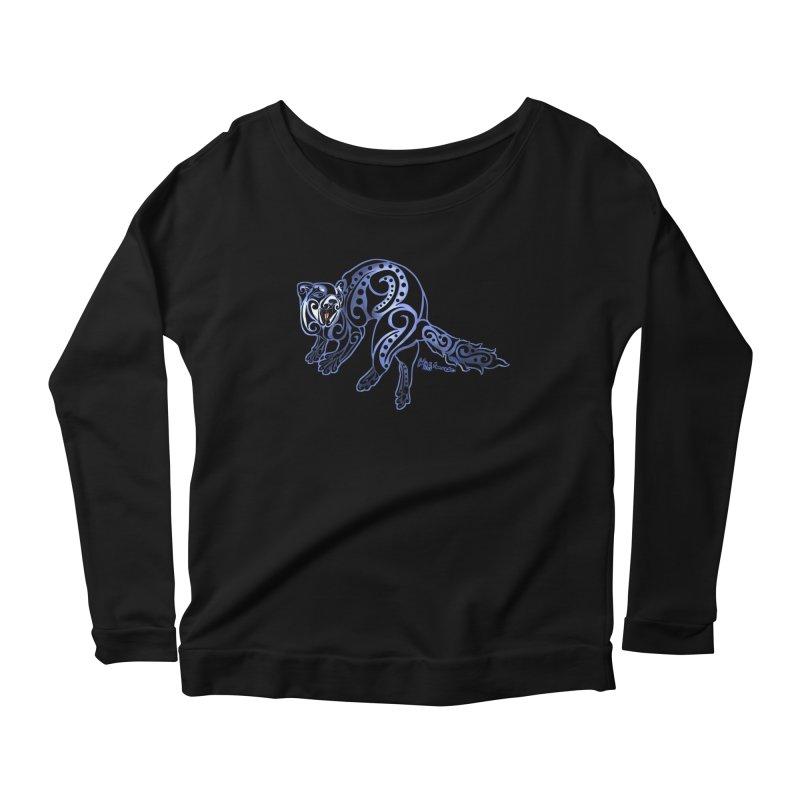 Ferret Trybe: War Dance! Women's Scoop Neck Longsleeve T-Shirt by Magickal Vision: The Art of Jolie E. Bonnette