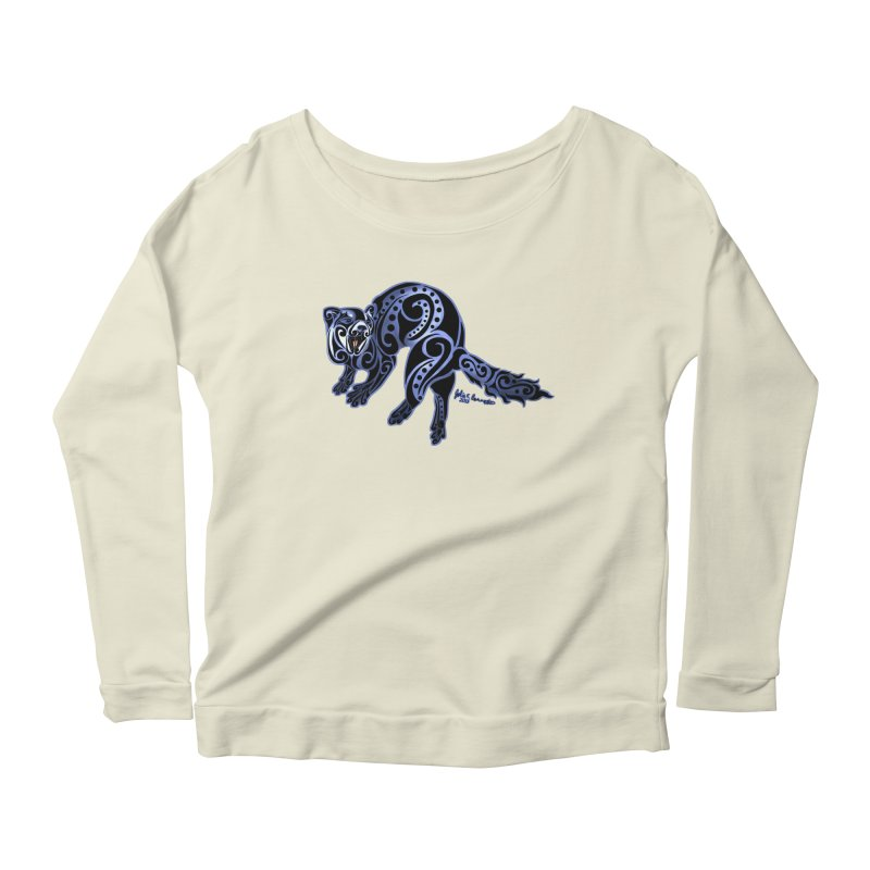 Ferret Trybe: War Dance! Women's Longsleeve Scoopneck  by Magickal Vision: The Art of Jolie E. Bonnette