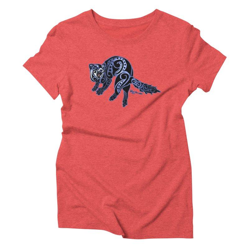 Ferret Trybe: War Dance! Women's Triblend T-Shirt by Magickal Vision: The Art of Jolie E. Bonnette