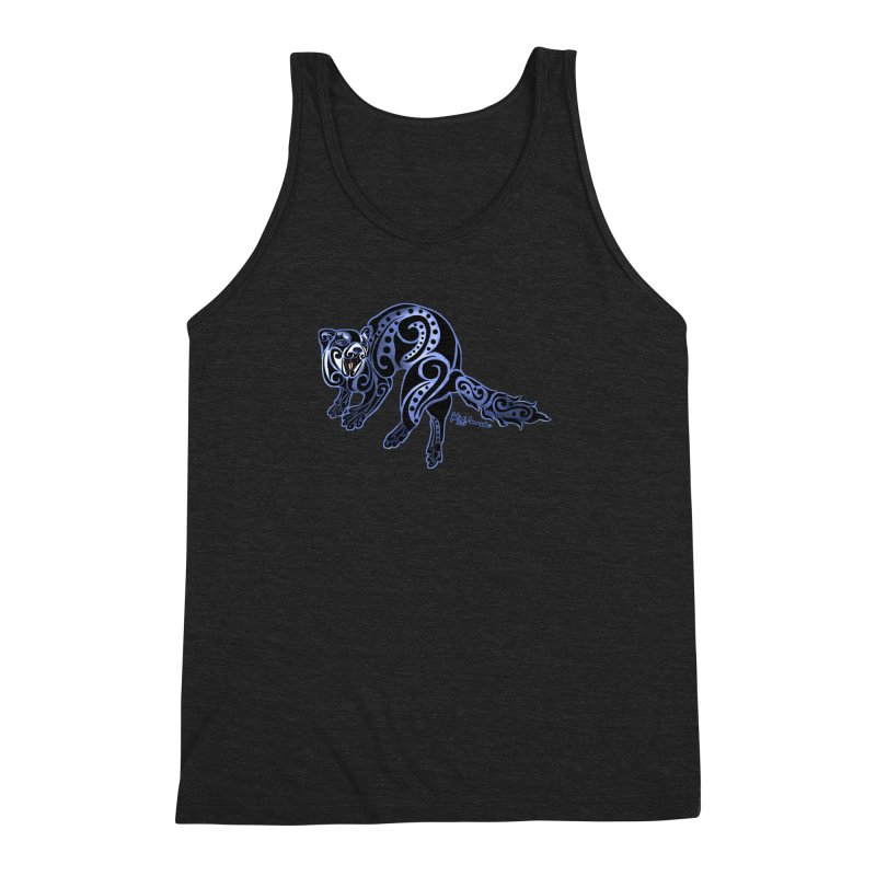 Ferret Trybe: War Dance! Men's Triblend Tank by Magickal Vision: The Art of Jolie E. Bonnette