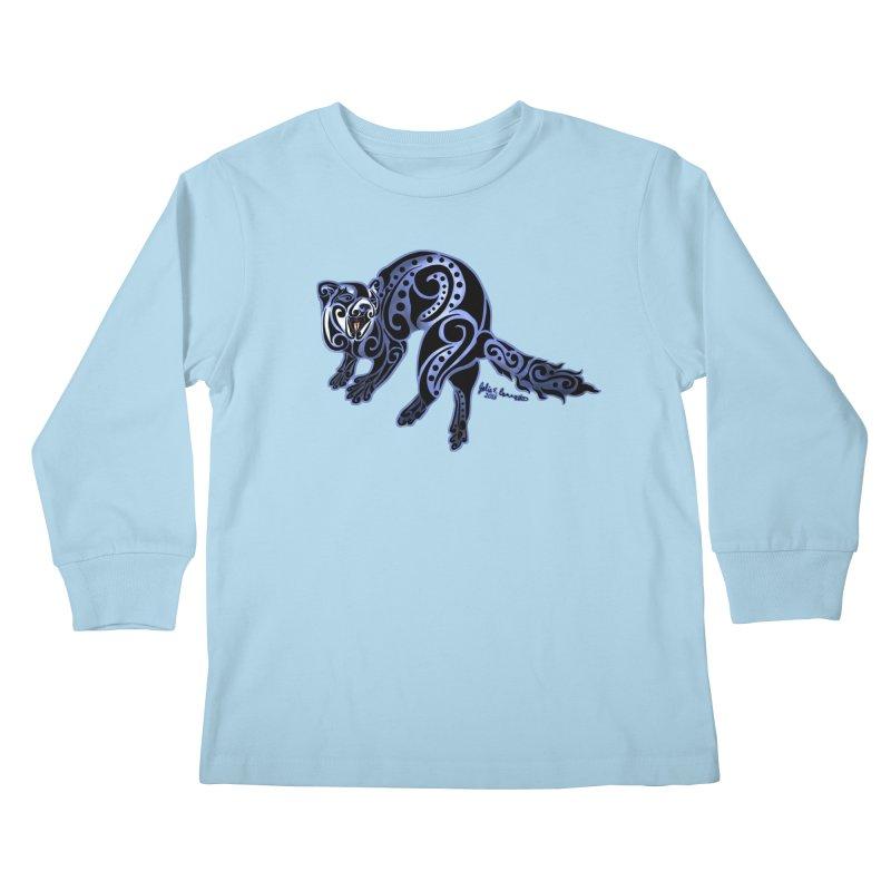 Ferret Trybe: War Dance! Kids Longsleeve T-Shirt by Magickal Vision: The Art of Jolie E. Bonnette