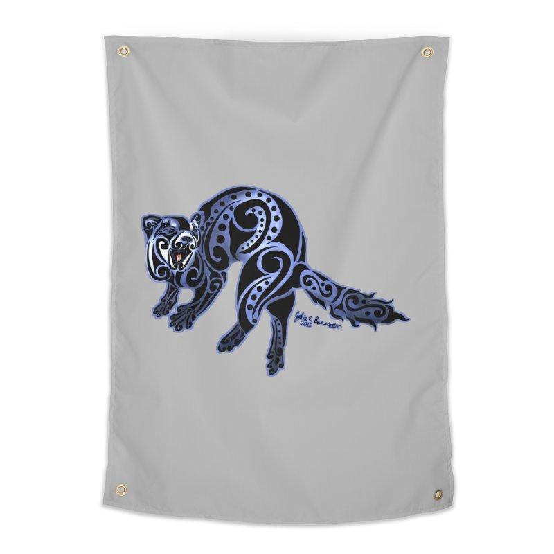 Ferret Trybe: War Dance! Home Tapestry by Magickal Vision: The Art of Jolie E. Bonnette