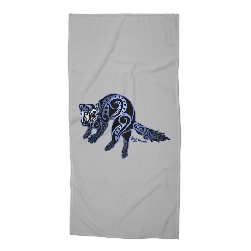 Ferret Trybe: War Dance! Accessories Beach Towel by Magickal Vision: The Art of Jolie E. Bonnette
