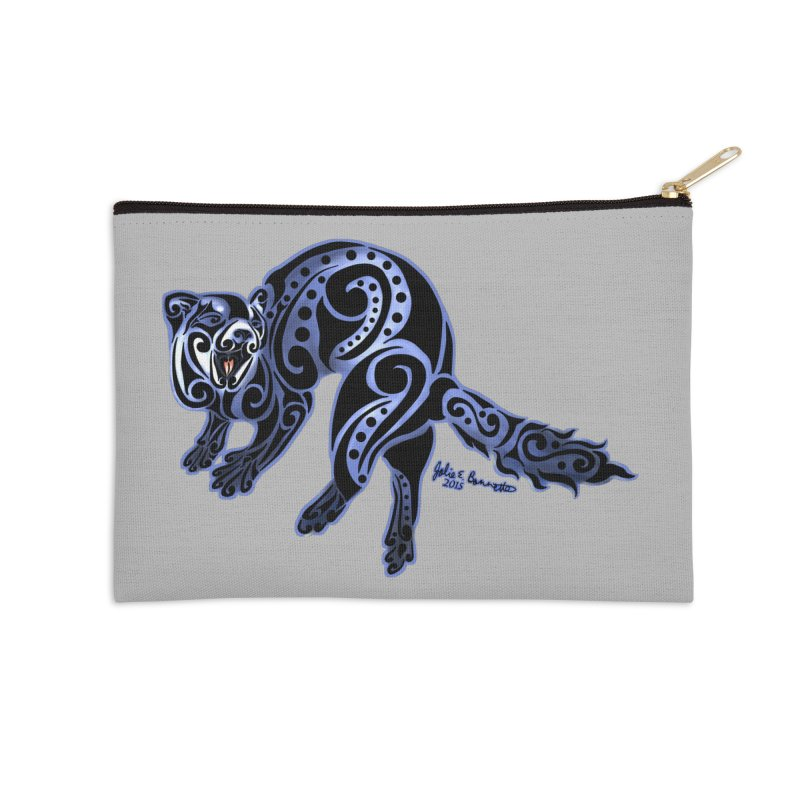 Ferret Trybe: War Dance! Accessories Zip Pouch by Magickal Vision: The Art of Jolie E. Bonnette