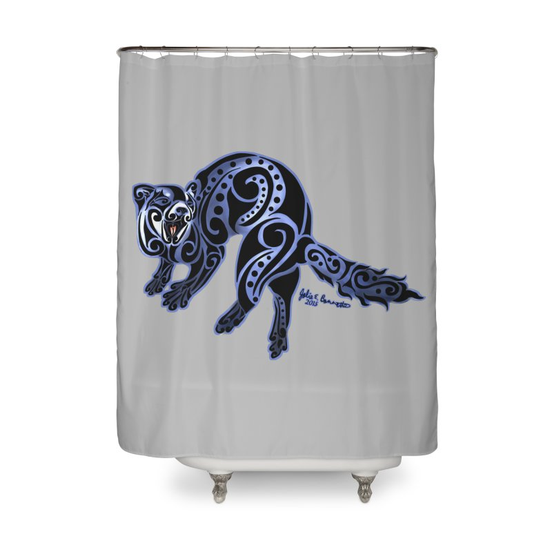 Ferret Trybe: War Dance! Home Shower Curtain by Magickal Vision: The Art of Jolie E. Bonnette