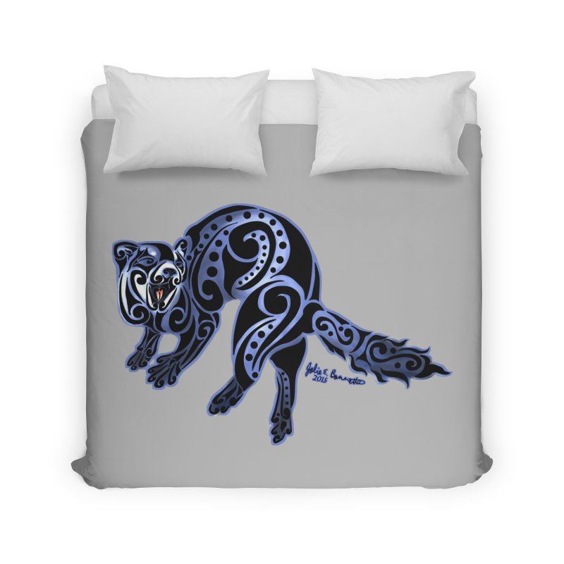 Ferret Trybe: War Dance! Home Duvet by Magickal Vision: The Art of Jolie E. Bonnette