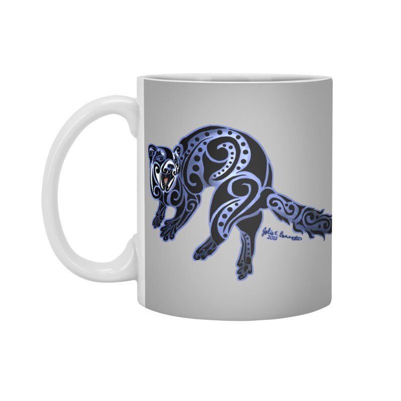 Ferret Trybe: War Dance! Accessories Mug by Magickal Vision: The Art of Jolie E. Bonnette