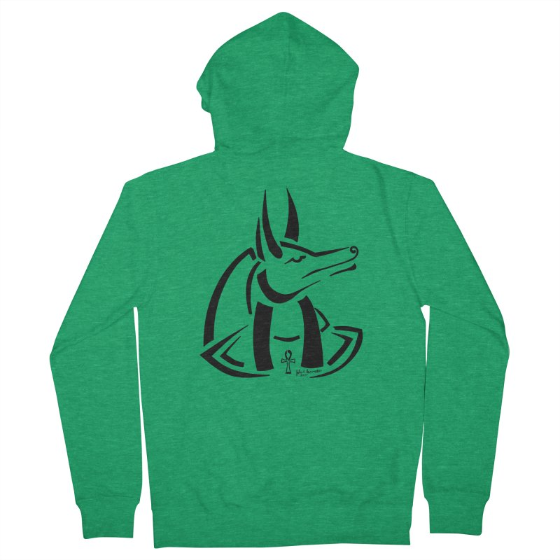 Anubis Women's Zip-Up Hoody by Magickal Vision: The Art of Jolie E. Bonnette