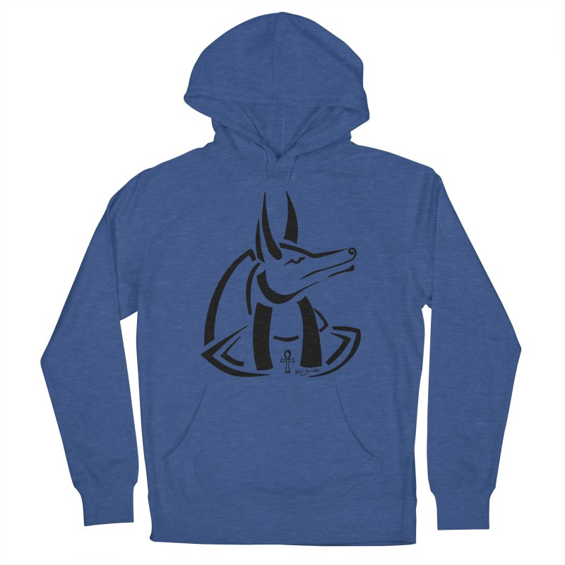 Anubis Men's French Terry Pullover Hoody by Magickal Vision: The Art of Jolie E. Bonnette