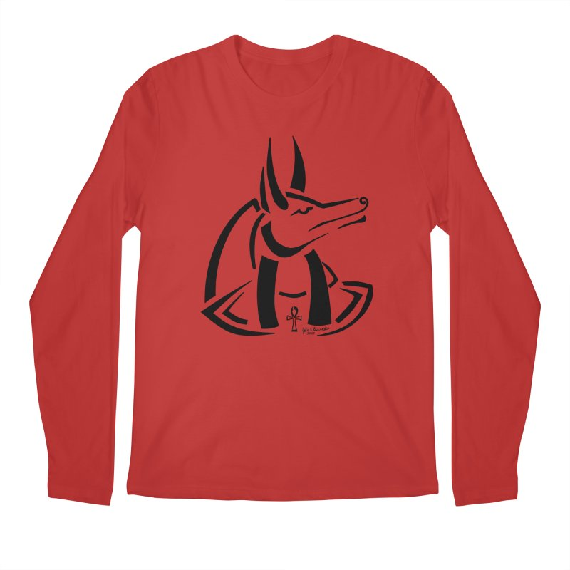 Anubis Men's Regular Longsleeve T-Shirt by Magickal Vision: The Art of Jolie E. Bonnette