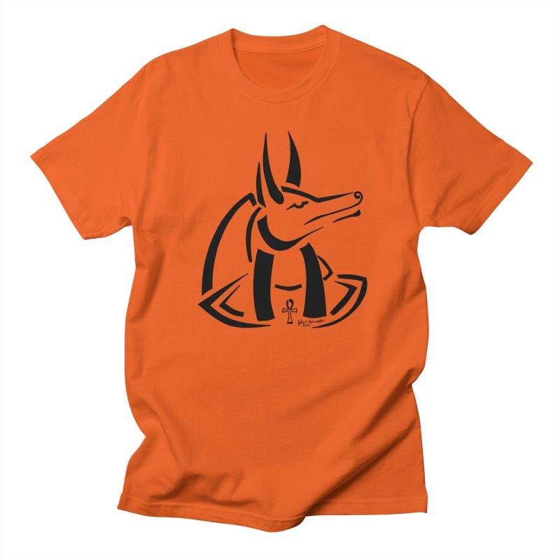Anubis Women's Regular Unisex T-Shirt by Magickal Vision: The Art of Jolie E. Bonnette
