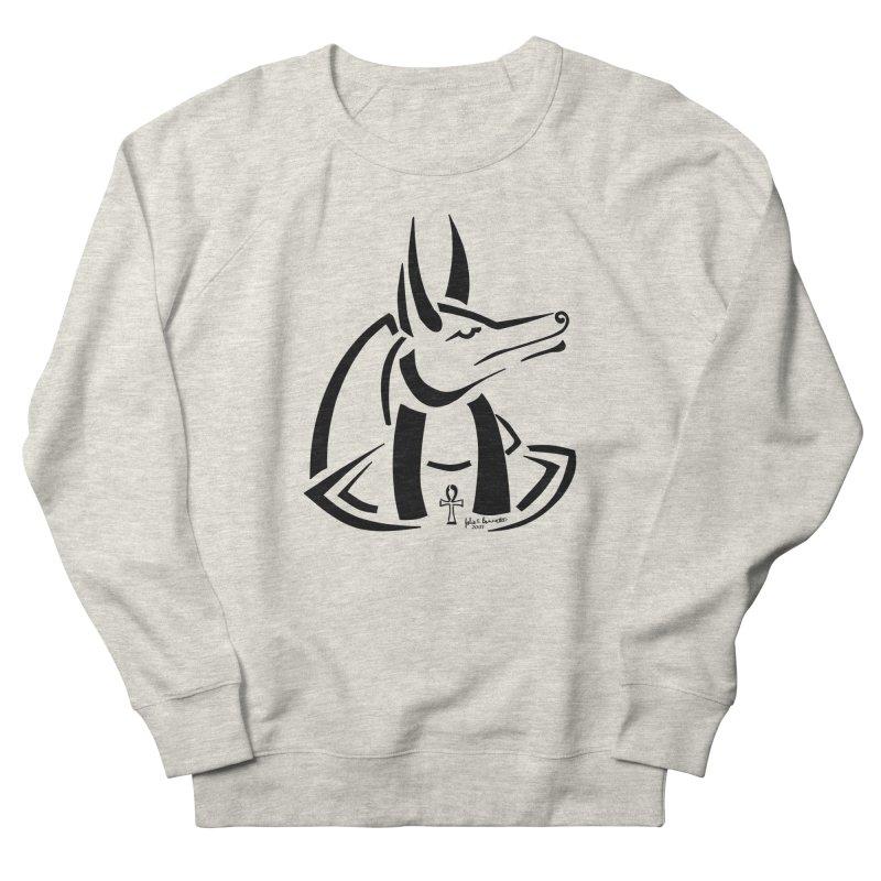 Anubis Women's French Terry Sweatshirt by Magickal Vision: The Art of Jolie E. Bonnette