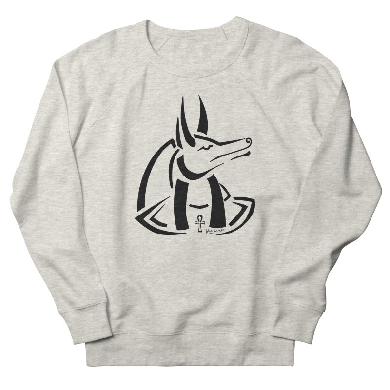 Anubis Men's French Terry Sweatshirt by Magickal Vision: The Art of Jolie E. Bonnette
