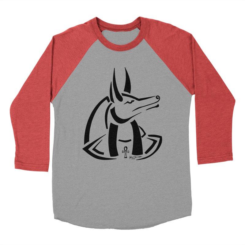 Anubis Women's Baseball Triblend Longsleeve T-Shirt by Magickal Vision: The Art of Jolie E. Bonnette