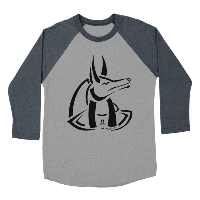 Anubis Men's Baseball Triblend Longsleeve T-Shirt by Magickal Vision: The Art of Jolie E. Bonnette