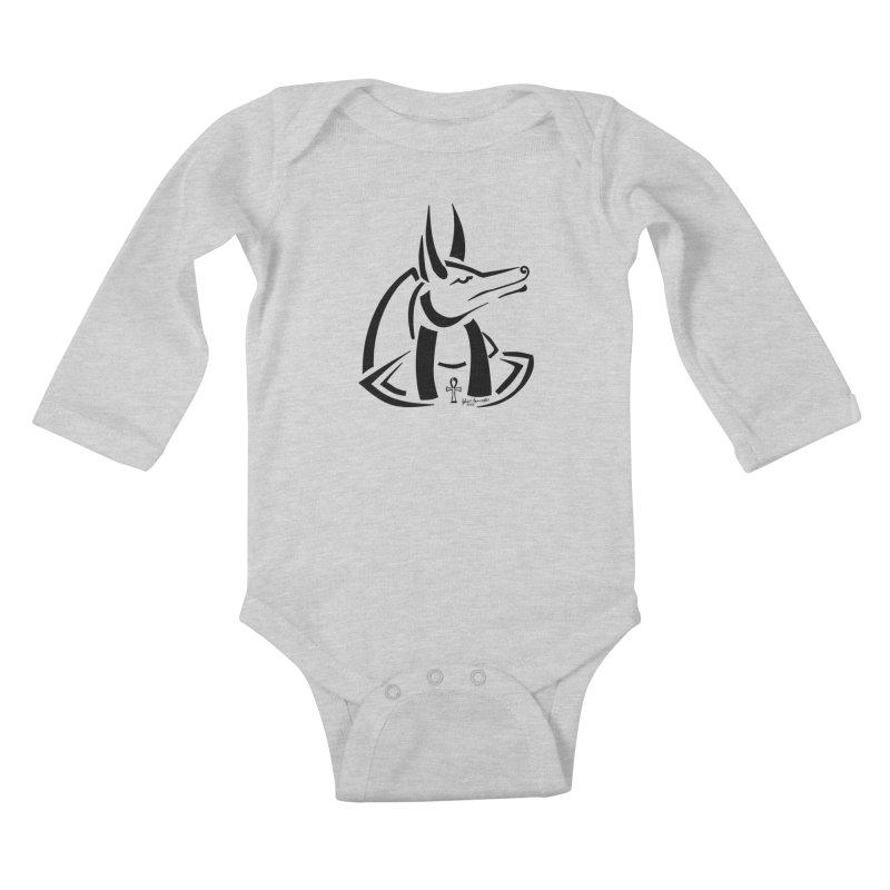 Anubis Kids Baby Longsleeve Bodysuit by Magickal Vision: The Art of Jolie E. Bonnette