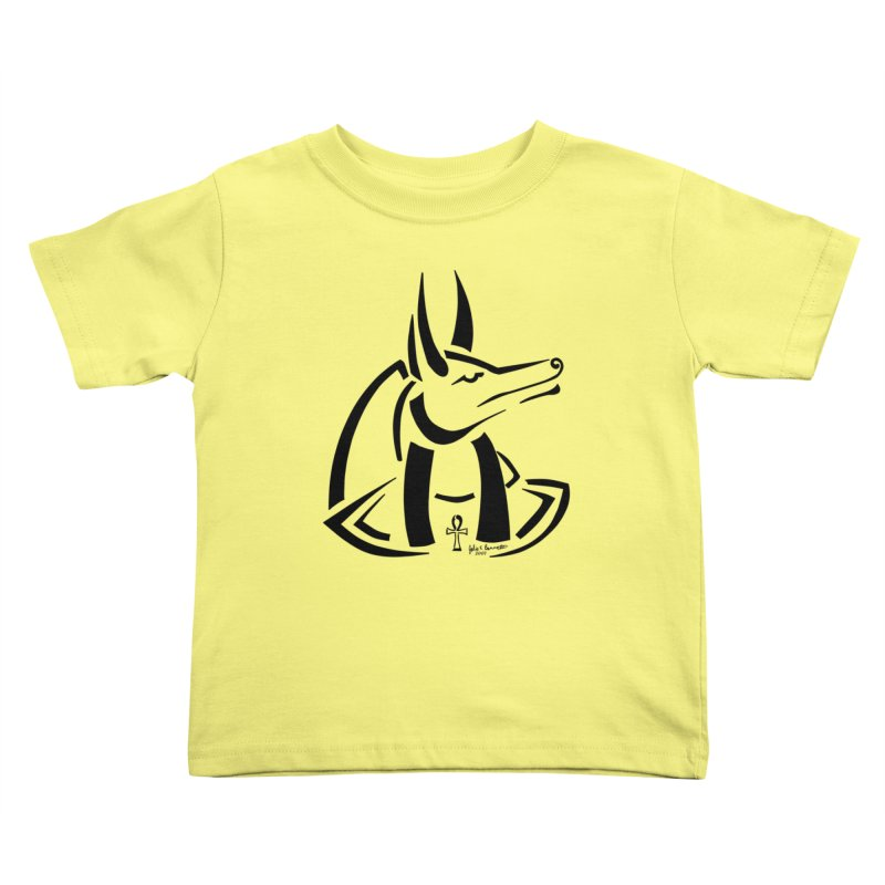 Anubis Kids Toddler T-Shirt by Magickal Vision: The Art of Jolie E. Bonnette