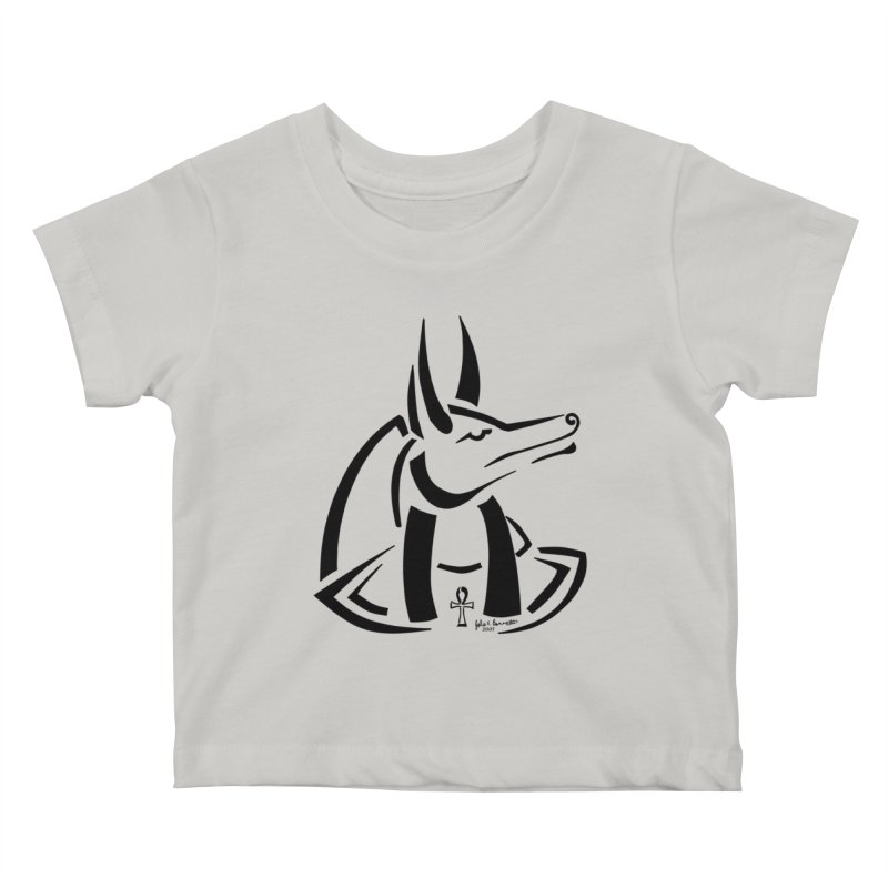 Anubis Kids Baby T-Shirt by Magickal Vision: The Art of Jolie E. Bonnette