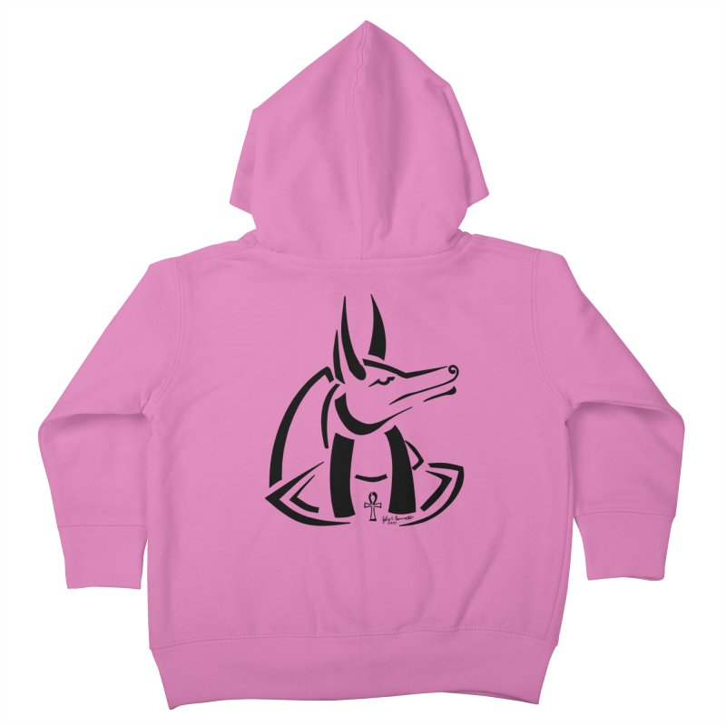 Anubis Kids Toddler Zip-Up Hoody by Magickal Vision: The Art of Jolie E. Bonnette