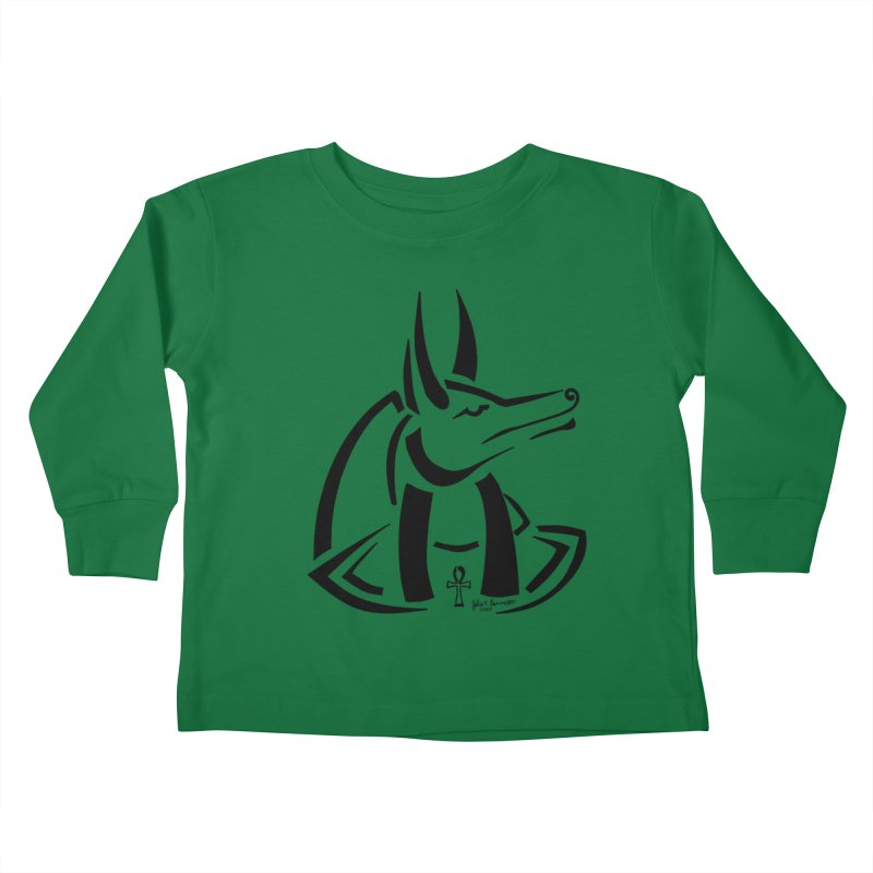 Anubis Kids Toddler Longsleeve T-Shirt by Magickal Vision: The Art of Jolie E. Bonnette