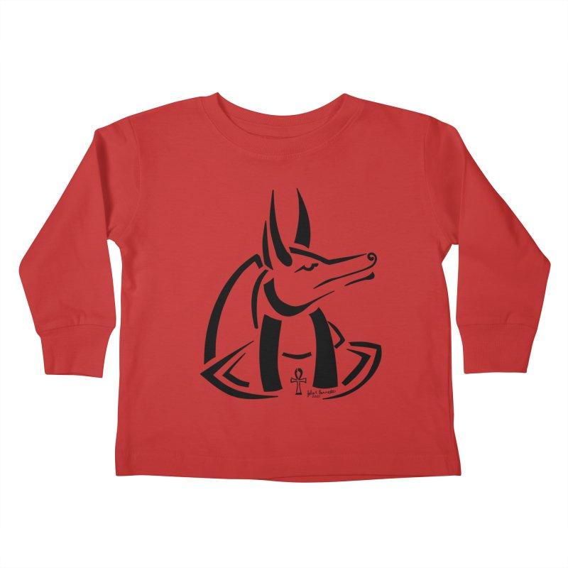 Anubis Kids Toddler Longsleeve T-Shirt by Magickal Vision: The Art of Jolie E. Bonnette