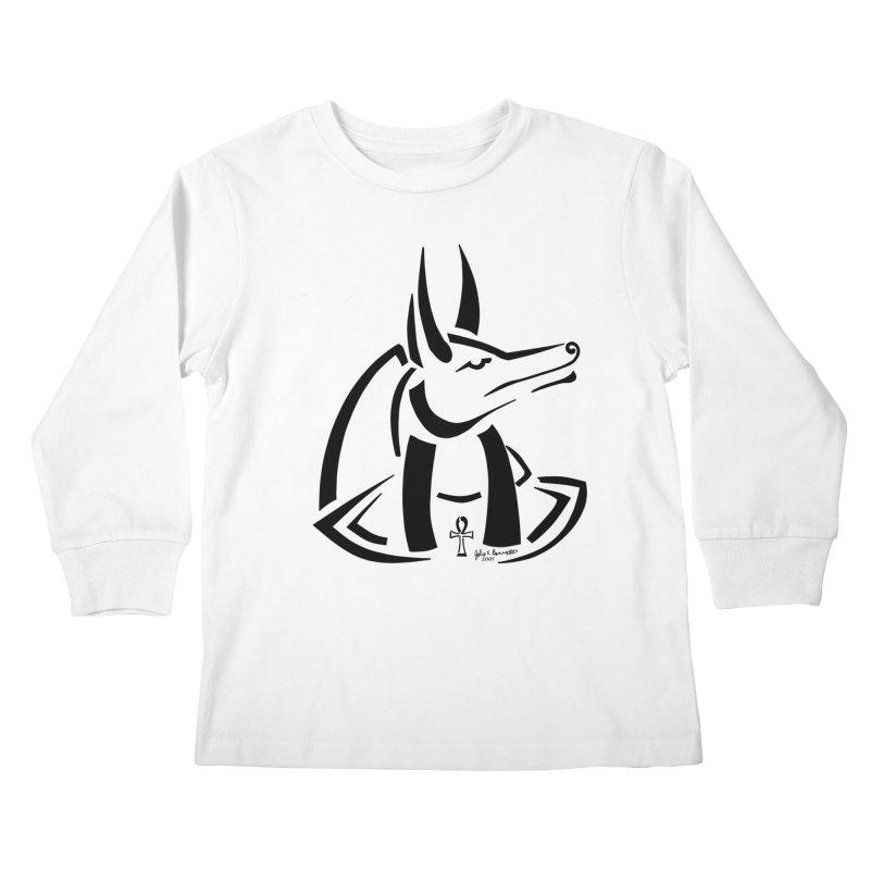 Anubis Kids Longsleeve T-Shirt by Magickal Vision: The Art of Jolie E. Bonnette