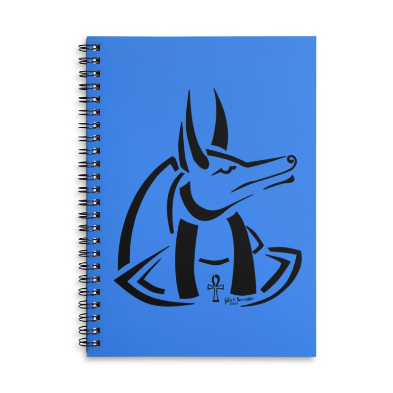 Anubis Accessories Lined Spiral Notebook by Magickal Vision: The Art of Jolie E. Bonnette