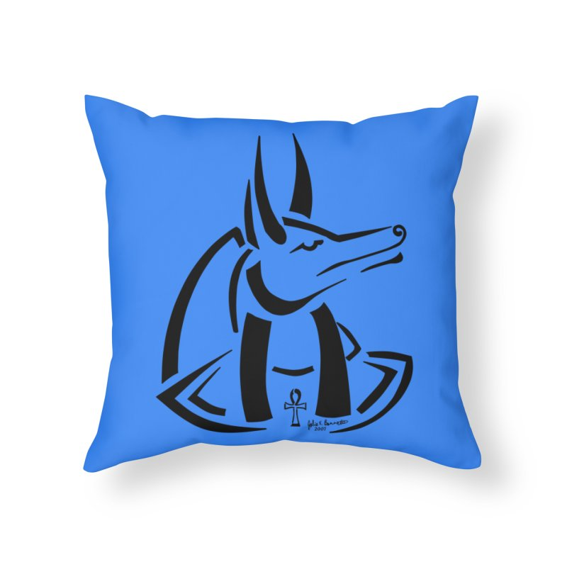 Anubis Home Throw Pillow by Magickal Vision: The Art of Jolie E. Bonnette