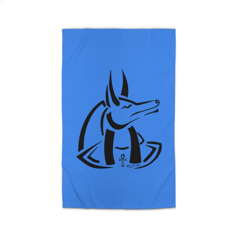 Anubis Home Rug by Magickal Vision: The Art of Jolie E. Bonnette
