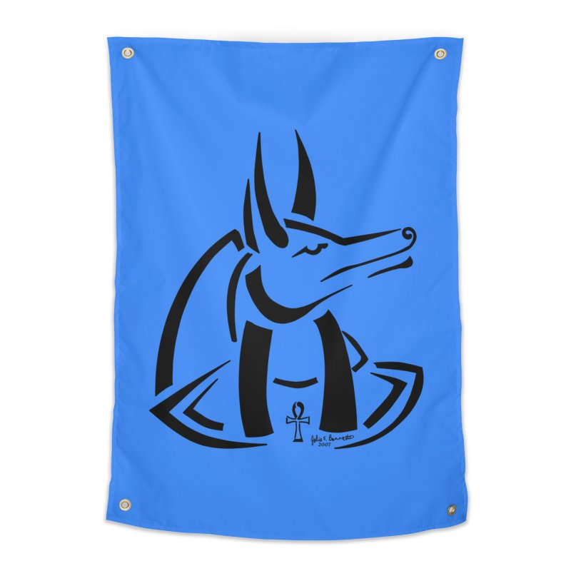 Anubis Home Tapestry by Magickal Vision: The Art of Jolie E. Bonnette