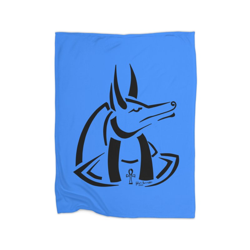 Anubis Home Blanket by Magickal Vision: The Art of Jolie E. Bonnette