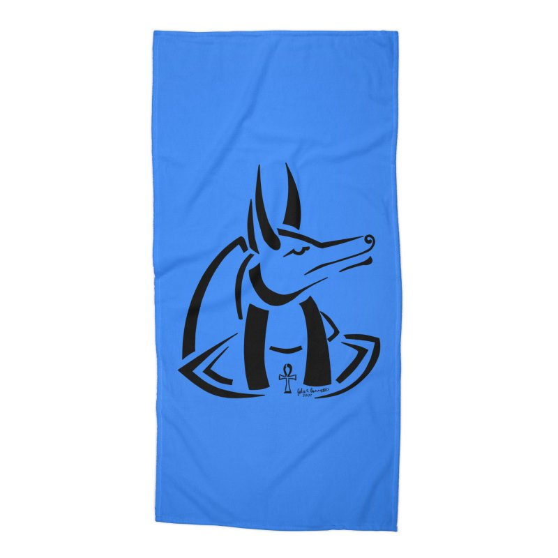 Anubis Accessories Beach Towel by Magickal Vision: The Art of Jolie E. Bonnette