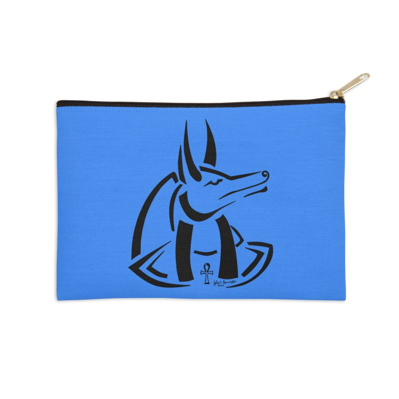 Anubis Accessories Zip Pouch by Magickal Vision: The Art of Jolie E. Bonnette