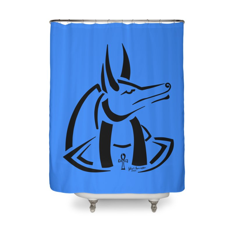 Anubis Home Shower Curtain by Magickal Vision: The Art of Jolie E. Bonnette