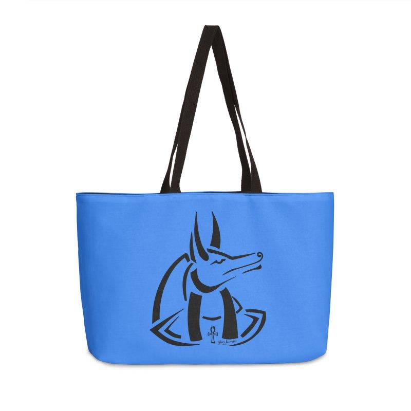 Anubis Accessories Weekender Bag Bag by Magickal Vision: The Art of Jolie E. Bonnette