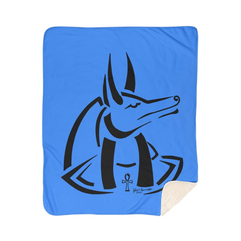 Anubis Home Sherpa Blanket Blanket by Magickal Vision: The Art of Jolie E. Bonnette