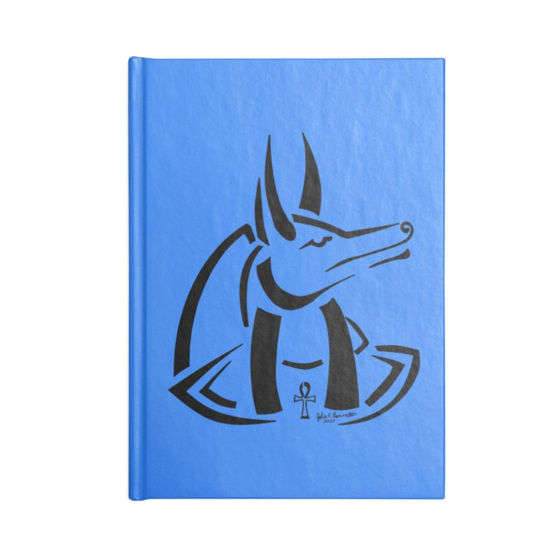 Anubis Accessories Lined Journal Notebook by Magickal Vision: The Art of Jolie E. Bonnette