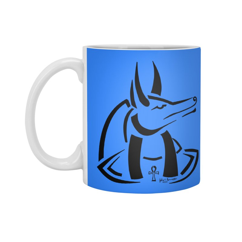 Anubis Accessories Standard Mug by Magickal Vision: The Art of Jolie E. Bonnette