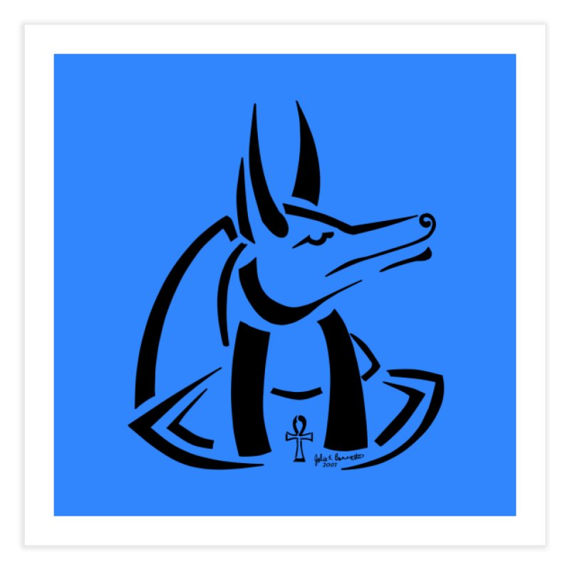 Anubis Home Fine Art Print by Magickal Vision: The Art of Jolie E. Bonnette