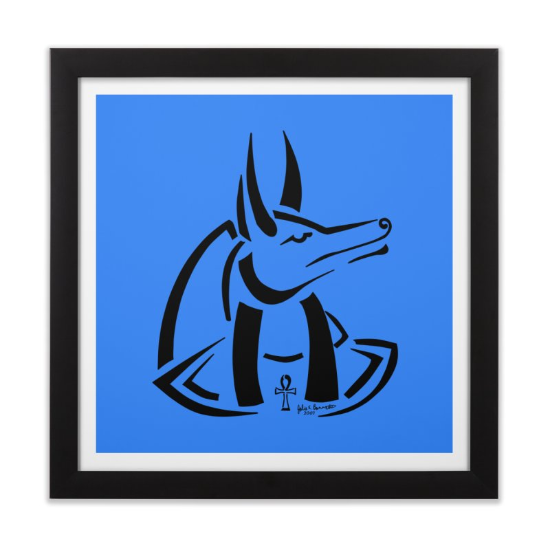 Anubis Home Framed Fine Art Print by Magickal Vision: The Art of Jolie E. Bonnette