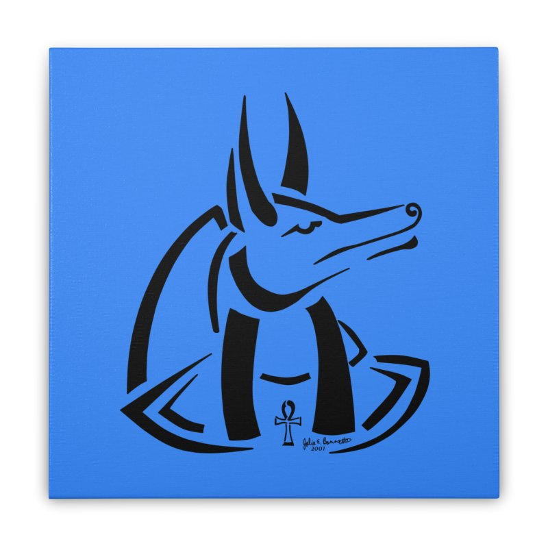 Anubis Home Stretched Canvas by Magickal Vision: The Art of Jolie E. Bonnette