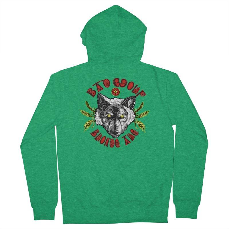 Bad Wolf Blonde Ale Men's Zip-Up Hoody by Magickal Vision: The Art of Jolie E. Bonnette