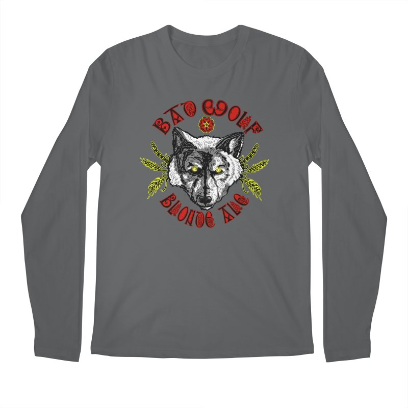 Bad Wolf Blonde Ale Men's Longsleeve T-Shirt by Magickal Vision: The Art of Jolie E. Bonnette