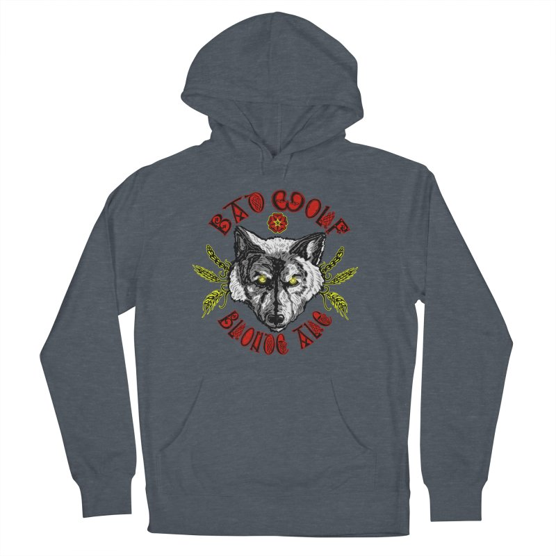 Bad Wolf Blonde Ale Men's French Terry Pullover Hoody by Magickal Vision: The Art of Jolie E. Bonnette