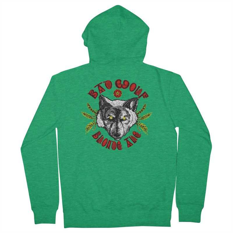 Bad Wolf Blonde Ale Women's French Terry Zip-Up Hoody by Magickal Vision: The Art of Jolie E. Bonnette