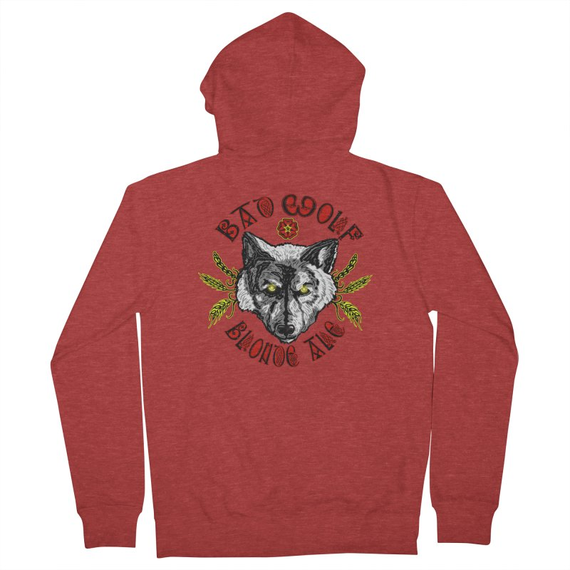 Bad Wolf Blonde Ale Women's Zip-Up Hoody by Magickal Vision: The Art of Jolie E. Bonnette
